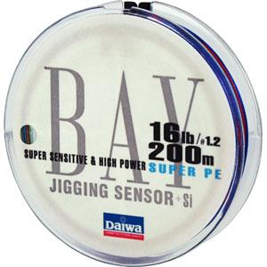 Леска Daiwa Bay Jigging Sensor #1.2-200 (19730)Плетеные шнуры<br>Благодаря технологии Evo Silicone  данная плетенка не только обладает прочностью и чувствительностью, свойственной всем PE- шнурам, но еще и имеет меньший на 20% коэффициент  динамического торможения при забросе<br>