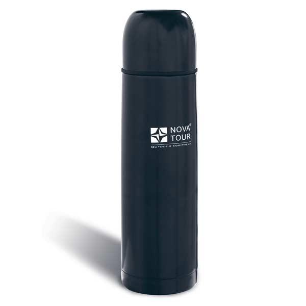 Термос NovaTour Блэк 700Термосы<br>Черный облегченный вакуумный термос из металла. Отлично сохраняет тепло. Корпус и колба, находящаяся внутри, сделаны из пищевой нержавейки.<br>
