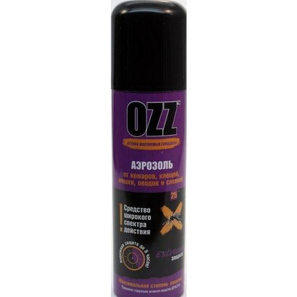 Аэрозоль Ozz Extra от клещей, 150 мл.Репелленты, аэрозоли<br>Чтобы предотвратить укус такого опасного насекомого как клещ, заранее подготовьтесь для выезда на природу. Всё что Вам нужно, эффективный аэрозоль.<br>