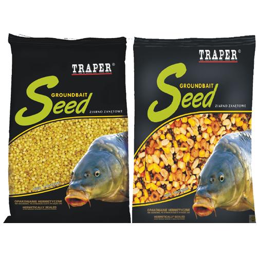 Прикормка Traper Seeds 0,5kg MIX 4 (Микс: кукуруза, перловка, вика, сорго) 03021Прикормки<br>Отборное, припарированное зерно используется в качестве насадки и добавки в прикормку. Является натуральным лакомством для многих видов рыб.<br>