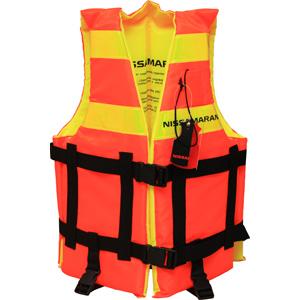 Страховочный жилет Nissamaran Life Jacket XXL (размер 116-120)Спасательные жилеты <br>Лёгкий, не сковывающий движений страховочный жилет Nissamaran со светоотражающими полосами и спасательным свистком.<br>