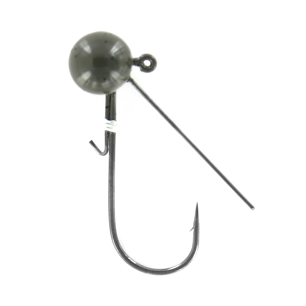 Джигголовка вольфрамовая Tsuribito Tungsten Jig Heads Weedless Ball, крючок#1, вес 3.5 г, 3 шт., цвет зеленая тыква (93574)Джигголовки, Чебурашки<br>Материал: вольфрам<br>