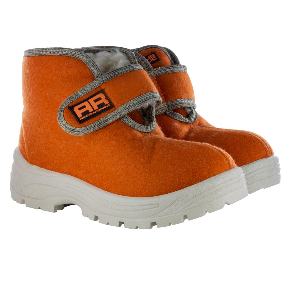 Ботинки-валенки Adrenalin Republic женские, оранжево-белыеБотинки<br>Adrenalin представляет удобные и стильные валенки, изготовленные из высококачественного войлока.<br>