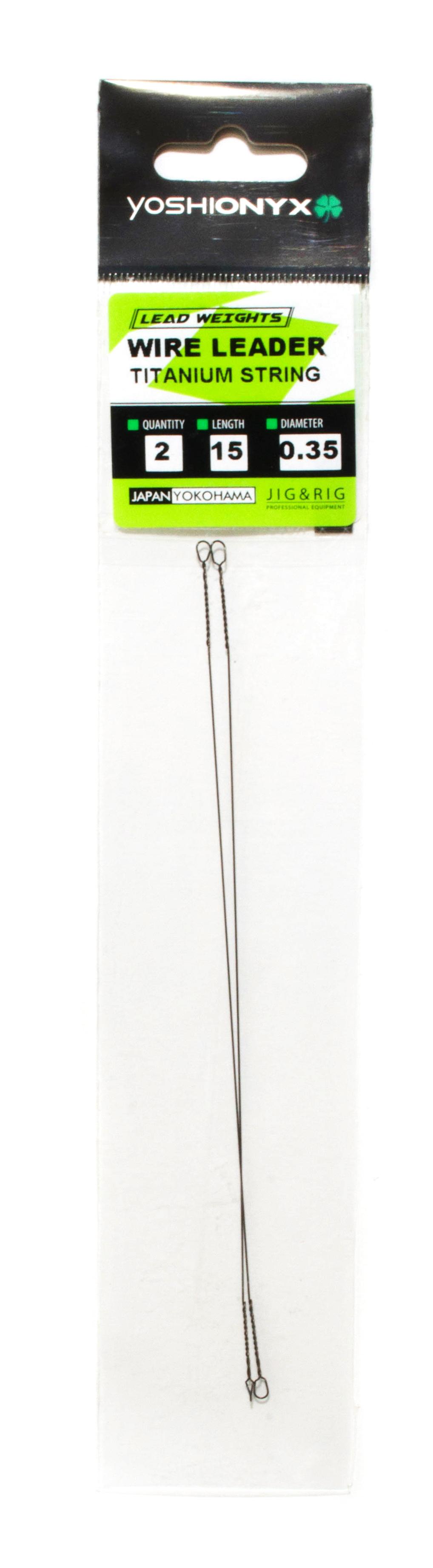 Поводок Yoshi Onyx Wire Leader Titanium String (титан струна)Поводки<br>Титановые поводки применяются в ловле от ультралайтового класса до джерка или нахлыста. Благодаря тому, что титан имеет вдвое меньший вес в сравнении со сталью, что способствует уменьшению влияния поводка на плавучесть даже миниатюрных приманок. Поводки э...<br>
