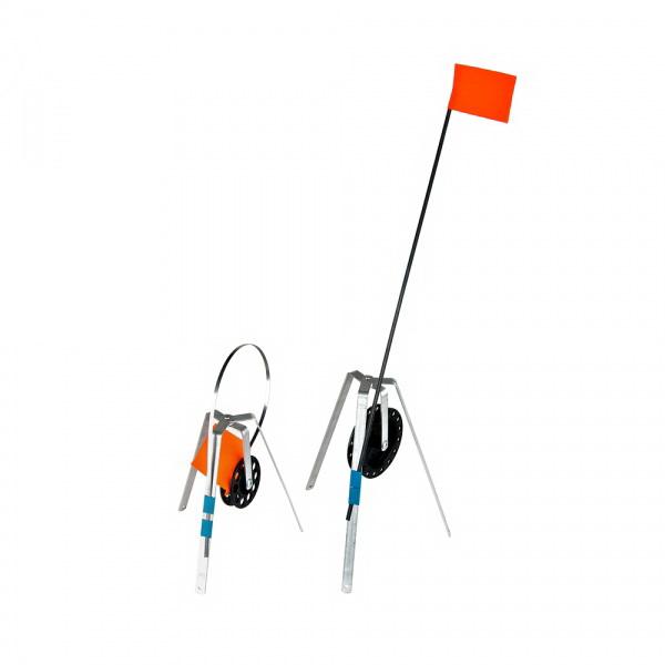 Жерлица Три Кита трехногая АЛЮМ.с катушкой 90мм. 8951617Жерлицы<br>Алюминиевая трехногая жерлица. Применяется для подледной ловли рыбы, однако может быть использована и при ловле рыбы на тонком льде в относительно теплую погоду.<br>