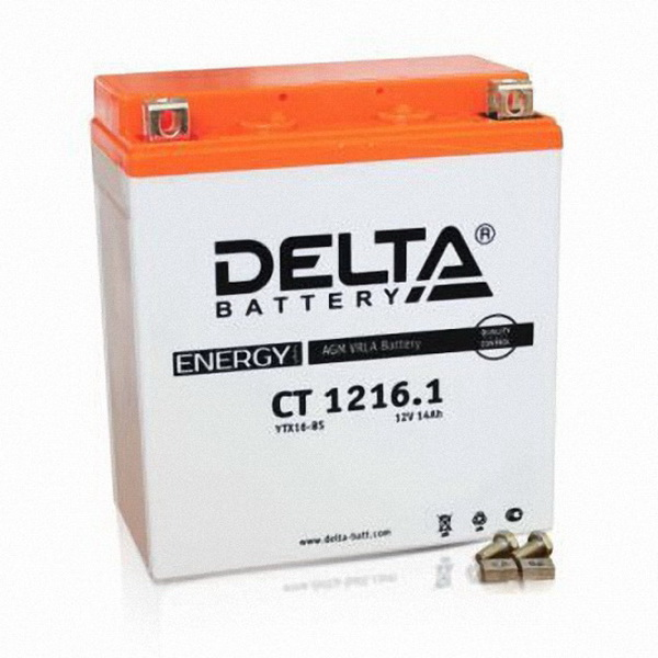 Аккумулятор Delta CT 1216.1Аккумуляторы<br>Аккумулятор с напряжением 12V, предназначенный для использования в дизельных генераторах, мотоциклах, водных мотоциклах и другой технике.<br>