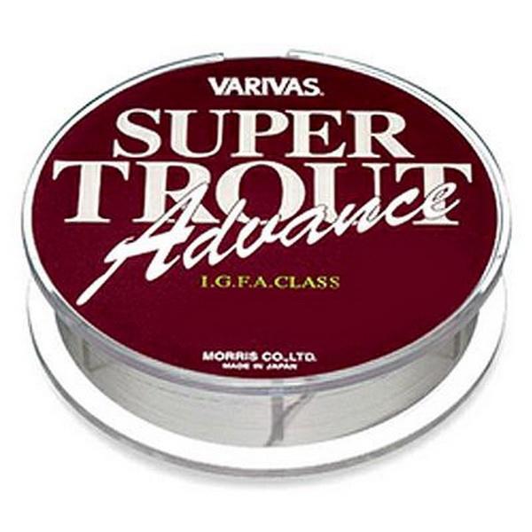 Монолеска Varivas Super Trout Advance, 91м, 5lb (82023)Монофильные лески<br>Нейлоновая Монолеска Varivas Super Trout Advance светло-серого оттенка отлично подходит для ловли форели. Превосходно держит рывки.<br>