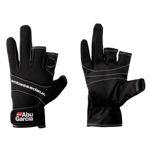 Перчатки ABU GARCIA неопреновые, размер МВарежки/Перчатки<br>Перчатки из неопрена для рыбалки, с тремя обрезанными пальцами, для более тонких операций.<br>