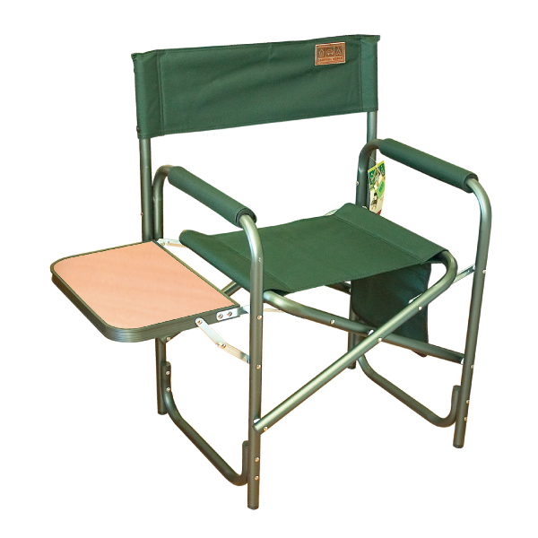 Туристическое кресло Camping World CW Joker CL-003Стулья, кресла складные<br>Практичное и надежное туристическое кресло зеленого цвета. Поперечные перекладины на ножках позволят не проваливаться кресло в землю. С боку имеется откидной столик. На такой столик можно поставить закуску, как для себя, так и для рыбы. Такое кресло отлич...<br>