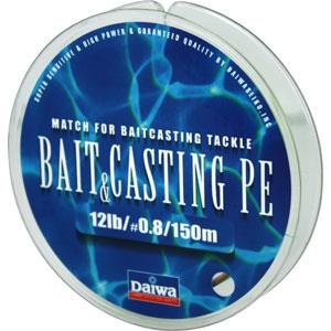 Леска Daiwa Bait Casting Pe 12 lb (25130)Плетеные шнуры<br>Леска плетеная Bait &amp; Cast PE - изначально была адаптирована производителем под мультипликаторные катушки. Сравнивая с классическими PE шнурами, у лески плетеной Daiwa Bait &amp; Casting прослеживается в несколько раз большая жесткость. Это преимущество с бол...<br>