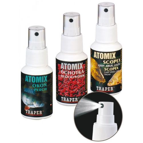 Аттрактант Traper Atomixes 50ml Scopex (Спрей Скопекс) 02019Ароматизаторы / Добавки<br>Различные ароматы в виде спрея. Предназначаются для опрыскивания прикормки, насадок, гранул, бойлов и различных приманок, придавая им неотразимый аромат.<br>