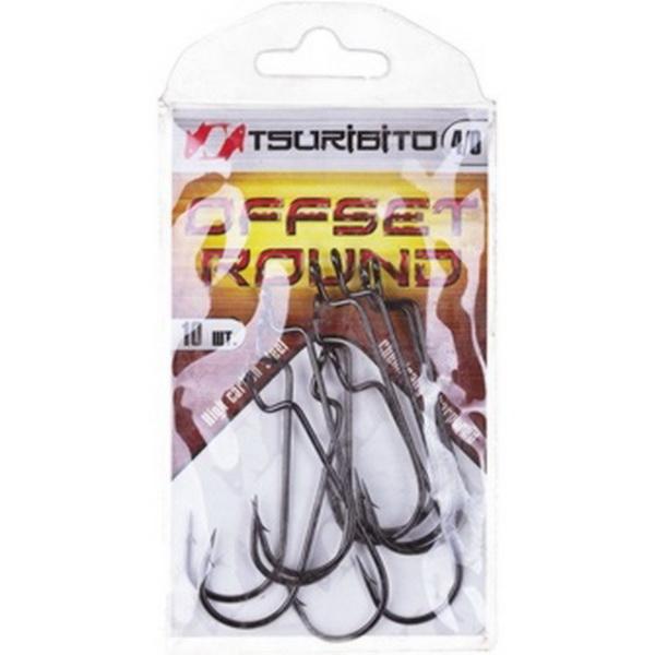 Крючки офсетные Tsuribito Offset Round Bend Worm №1/0 (BN)