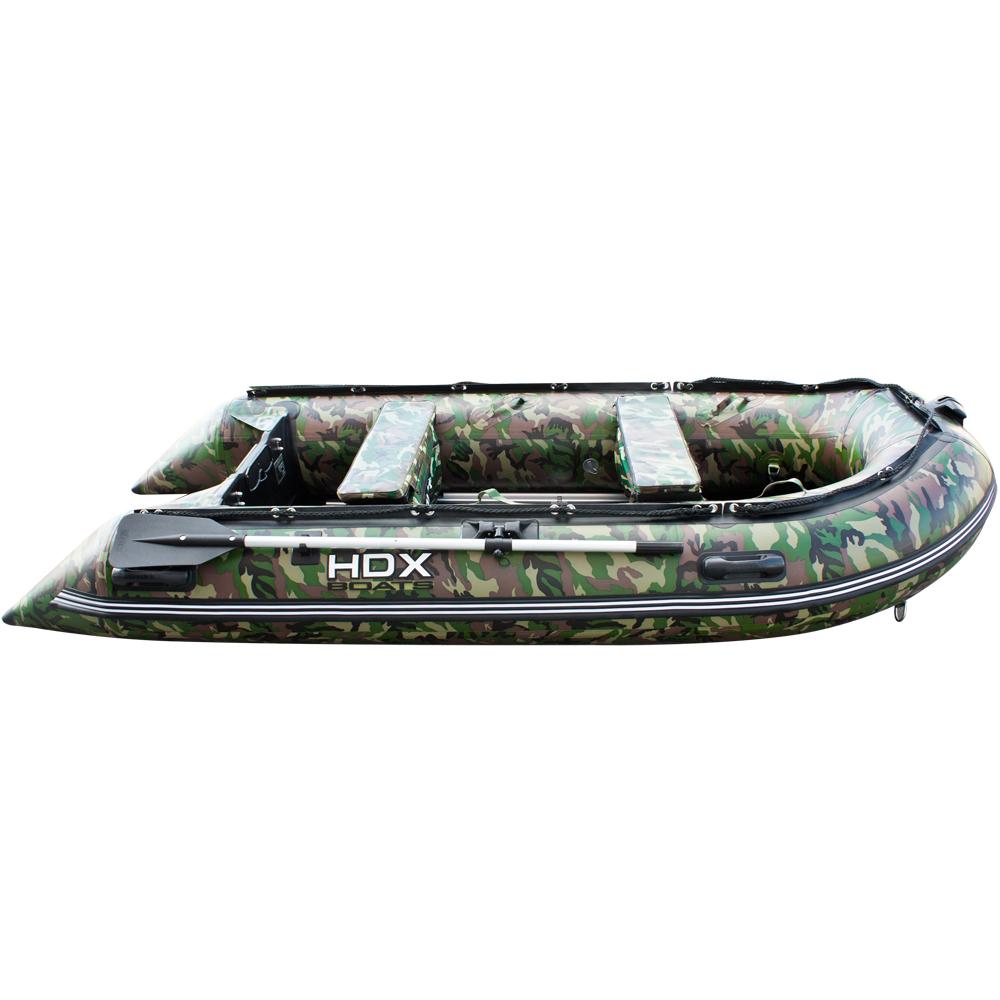 лодка пвх hdx 280 carbon камуфляж
