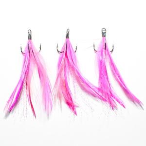 Тройной крючок Bassday Feather Hook # 6 / Pink