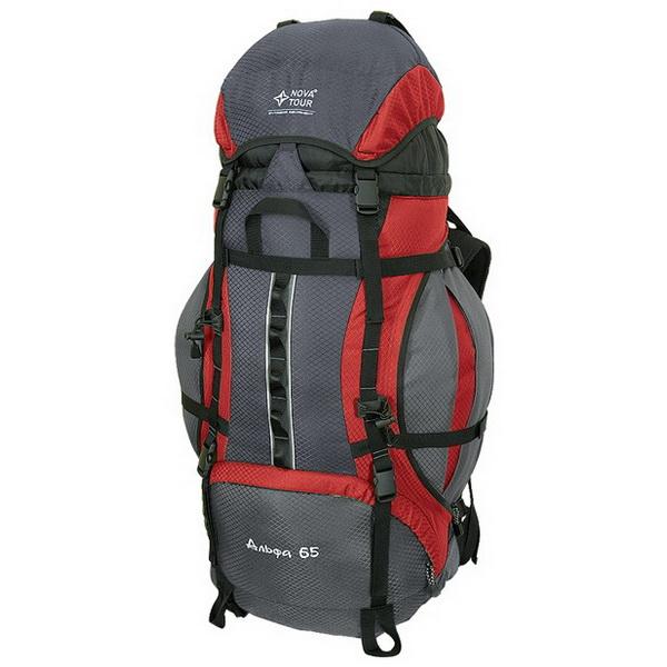 Рюкзак NovaTour Альфа 85 V2 Серый/красныйРюкзаки<br>Рюкзак NovaTour Альфа 65 V2 95311-057-00 с усиленными стропами для пеших походов и отдыхе на природе.<br>