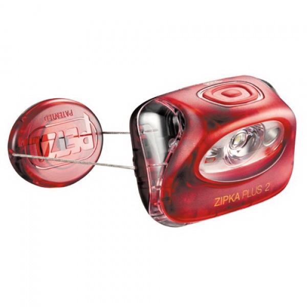 Фонарь налобный Petzl Зипка Плюс С 2 красныйФонари налобные<br>Компактный налобный фонарь, оснащенный системой втягивания нити. Благодаря данной системе есть возможность носить фонарь на голове, запястье, а также крепить его к различным предметам.<br>