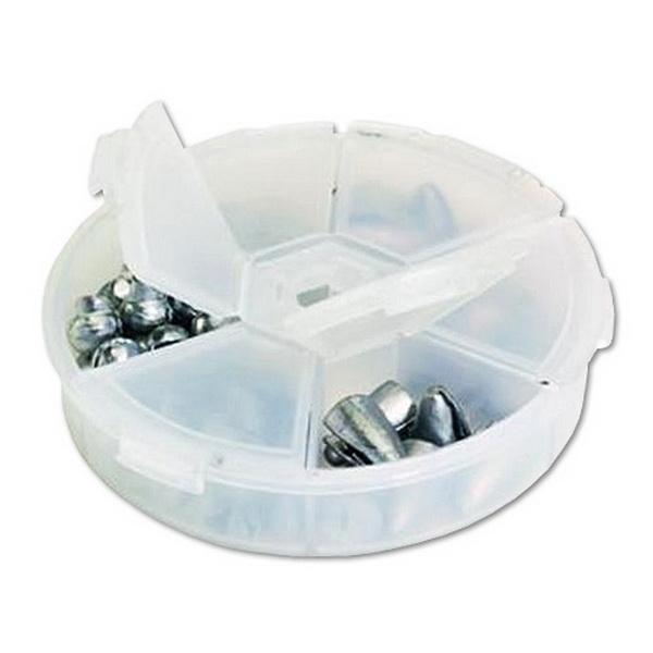 Коробка Plano 1040-00Коробки<br>Модель круглая, шесть индивидуальных отсеков, прозрачная. Компания - производитель гарантирует эффективность и надёжность предлагаемого товара.<br>