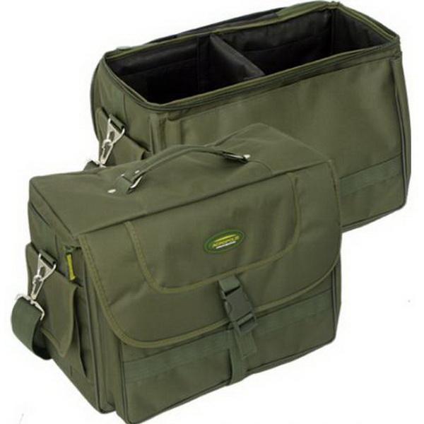 Сумка Acropolis PC-3 рыбацкая ( 35х18х25 )Сумки и рюкзаки<br>Рыбацкая сумка из прочного водонепроницаемого материала. Сверху сумка закрывается крышкой, которая фиксируется защелкой<br>