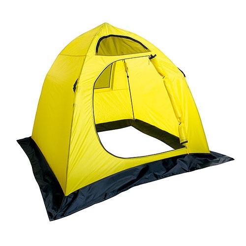 Палатка Holiday рыболовная зимняя EASY ICE 150х150 жел. H-10431Палатки для зимней рыбалки<br>Жесткая конструкция из эластичных стеклопластиковых составных звеньев, легко разбирается и компактно укладывается в сумку для переноски.<br>
