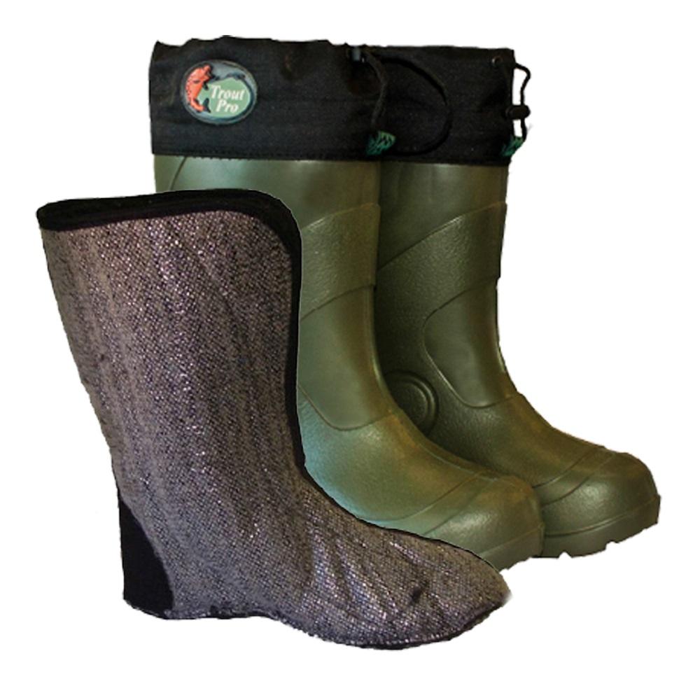 Сапоги зимние Trout Pro Lake Tahoe, размер 46-47 (ЭВА, до -55) (64523)Обувь для зимней рыбалки<br>Сапоги из ЭВА Trout Pro Lake Tahoe –легкие, теплые, герметичные зимние сапоги. Они с успехом могут использоваться вместо валенок в зимний период.<br>