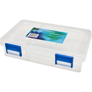 Коробка Tsuribito MP100Коробки<br>Удобная пластиковая коробка Tsuribito для хранения и транспортировки приманок. Коробка имеет 4 съемные перегородки, которые позволяют изменять размер каждого отделения. Размер  15,7 х 9,8 х 3,8см.<br>
