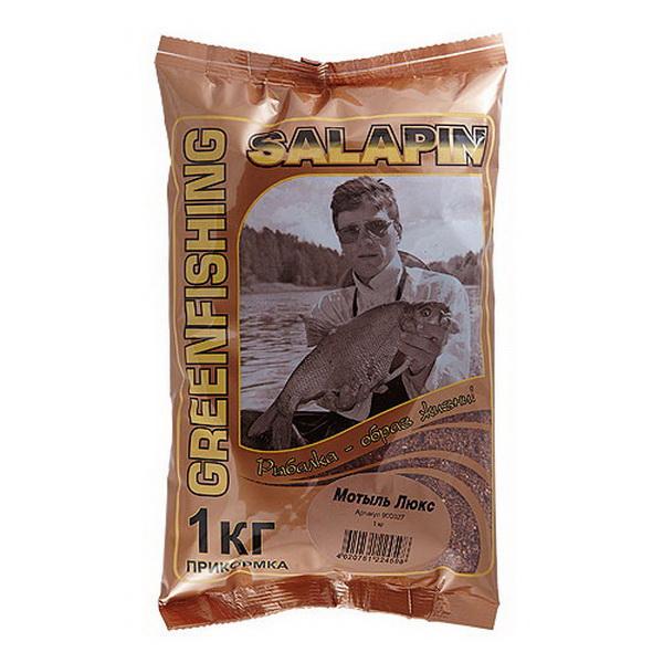 Прикормка GF Salapin Мотыль Люкс 1 кг. 900027Прикормки<br>Зимняя прикормка, хорошо сочетающаяся с другими прикормочными смесями. Подходит для прикормки рыбы в воде не ниже +15 градусов.<br>