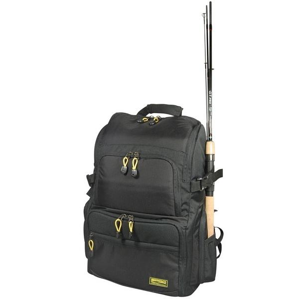 Рюкзак Spro Back Pack + 4 BoxesСумки и рюкзаки<br>Хорошего качества модель с большой емкостью и боковыми карманами. Фирма - производитель продолжает разработку новых стандартов в этой области.<br>