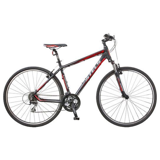 Велосипед Stels 700C Cross 150Велосипеды Stels<br>Дорожный велосипед начального уровня с оборудованием любительского класса Shimano, 24 скорости. Алюминиевая рама, амортизированная вилка, двойные обода ALEX, звонок. Надежные ободные тормоза V-brake TEKTRO.<br>