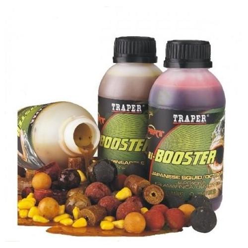 Аттрактант Traper Booster 300ml Strawberry (Клубника) 02160Ароматизаторы / Добавки<br>Жидкая ароматизированная добавка для пропитывания приманок, пелетсов, бойлов, зёрен, отлично подходит для пропитывания закормочных шаров.<br>