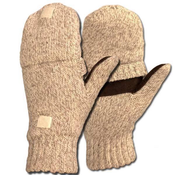 Перчатки-варежки NovaTour вязаные Sentry меланж OatmealВарежки/Перчатки<br>Гибридные варежки-перчатки (5 отверстий под пальцы).<br>