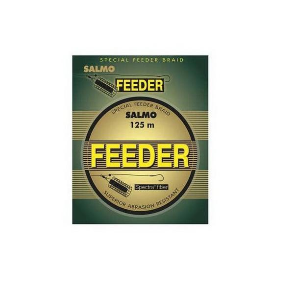 Леска плетеная Salmo Feeder 125мПлетеные шнуры<br>Плетеная леска разработана специально для ловли на фидер. Изготовлена из волокна с круглым сечением, которое отлично скользит сквозь кольца.<br>