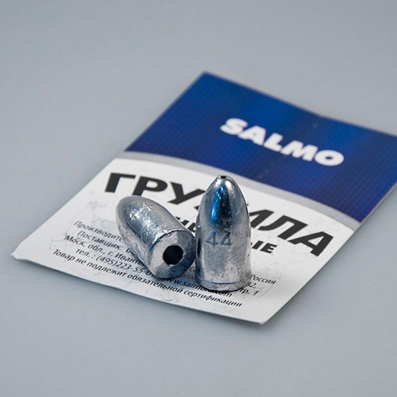 Грузило Salmo свинец Пуля удлин. для техас. оснас. 8 гр. (91612)Грузила, отцепы<br>Название данный груз получил из-за близкого сходства по форме с оружейной пулей. Груз Пуля предназначен для оснащения рыболовных конструкций, и благодаря своей обтекаемой форме является чрезвычайно полезным приспособлением для ловли в закоряженных, заро...<br>