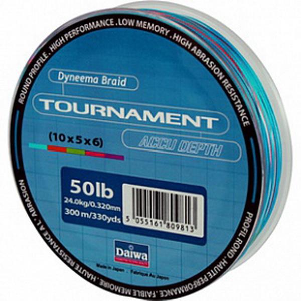 Леска Daiwa Tournament Accudepth / TN AC 20 LB - 300 M (22979)Плетеные шнуры<br>Леска плетеная Daiwa Tournament Accudepth - разноцветная леска, позволяет вам точно измерить глубину и длину.<br>