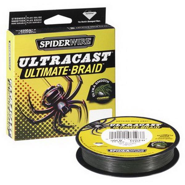 Леска плетеная Spiderwire Ultracast Ultimate Braid Lo-Vis Green 110м, #0.14, 12.7кг (61876)