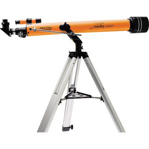 Телескоп JJ-Astro Astroboy 60x800Телескопы<br>AstroBoy 60x800 - качественный ахроматический телескоп с микрометрическим наведением на объект по высоте. В комплект поставки входят: труба телескопа с 5х20 искателем, два окуляра 20 и 8 мм  увеличение 40 и 100 крат , алюминиевый полевой штатив, 90° диаго...<br>