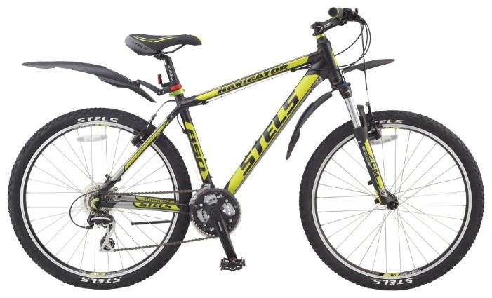 Велосипед Stels Navigator-850 V 26.14Велосипеды Stels<br>Stels Navigator 850 V - отличный хардтейл, который прекрасно подойдёт тем, кто увлекается такой дисциплиной, как кросс-кантри, или просто любит проводить своё свободное время активно, катаясь по пересечённой местности и городу.<br><br>В основе велосипеда лежи...<br>