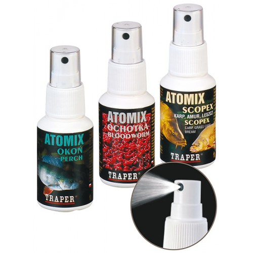 Аттрактант Traper Atomixes 50ml Almond (Спрей Миндаль) 02016Ароматизаторы / Добавки<br>Различные ароматы в виде спрея. Предназначаются для опрыскивания прикормки, насадок, гранул, бойлов и различных приманок, придавая им неотразимый аромат.<br>