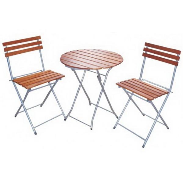 Набор Greenhouse 2 складных стула и стол HFS-002Столы складные<br>Набор складной мебели для пикника. Он отлично будет сочетаться с интерьером загородного дома.<br>