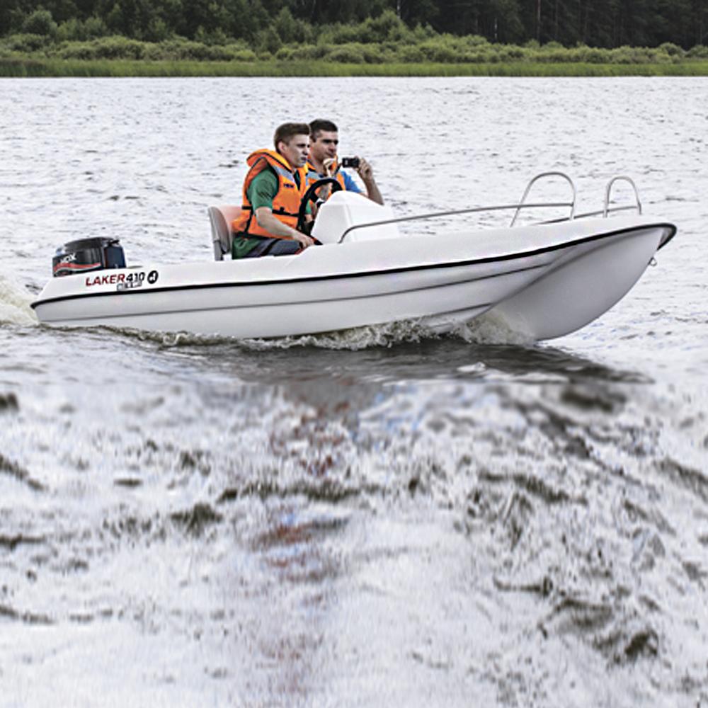 На лодке Laker T 410 (96098)Водомоторика<br>Рыболовный гид 365 дней рыбалки ВЕСНА, ЛЕТО, ОСЕНЬ – лодки ЗИМА – снегоходы, лодки на открытой воде Опытные рыболовы и именитые спортсмены проведут с Вами 6 часов на Иваньковском водохранилище, расскажут, а главное - покажут как правильно искать и ловить ...<br>