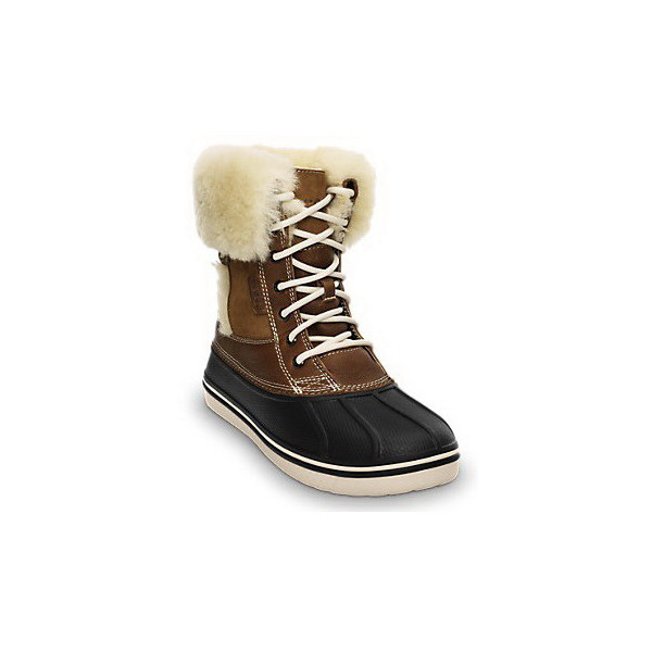 Ботинки Crocs жен. ОллКаст Люкс Дак Бут Хазелнат/Стукко р. 36.5 (W 6)Ботинки<br>Удобные женские ботинки позволят вам чувствовать себя комфортно и в холод, и в слякоть. Для увеличения устойчивости на подошве выполнен накат из резины.<br>