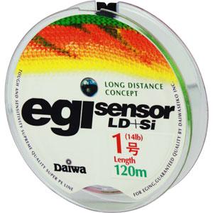 Леска Daiwa Egi Sensor LD + Si #1-120 (25115)Плетеные шнуры<br>Технология Evo Silicone уменьшает коэффициент динамического торможения  на 20%, способствует более дальним забросам.<br>
