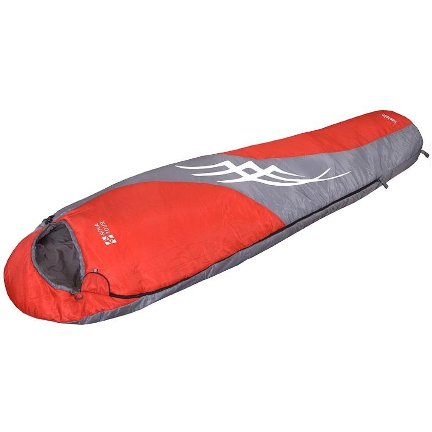 Спальный мешок NovaTour Сахалин Красный/серый