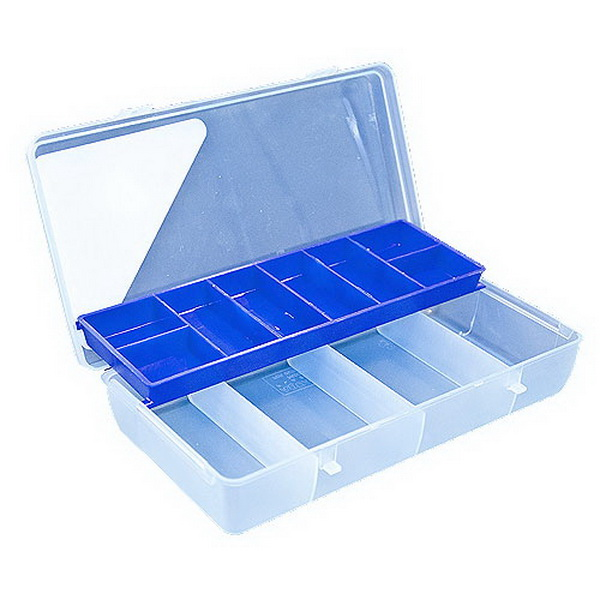 Коробка Salmo рыболов. пласт. с полкойКоробки<br>Небольшая коробочка, предназначенная для хранения рыболовных принадлежностей.<br>