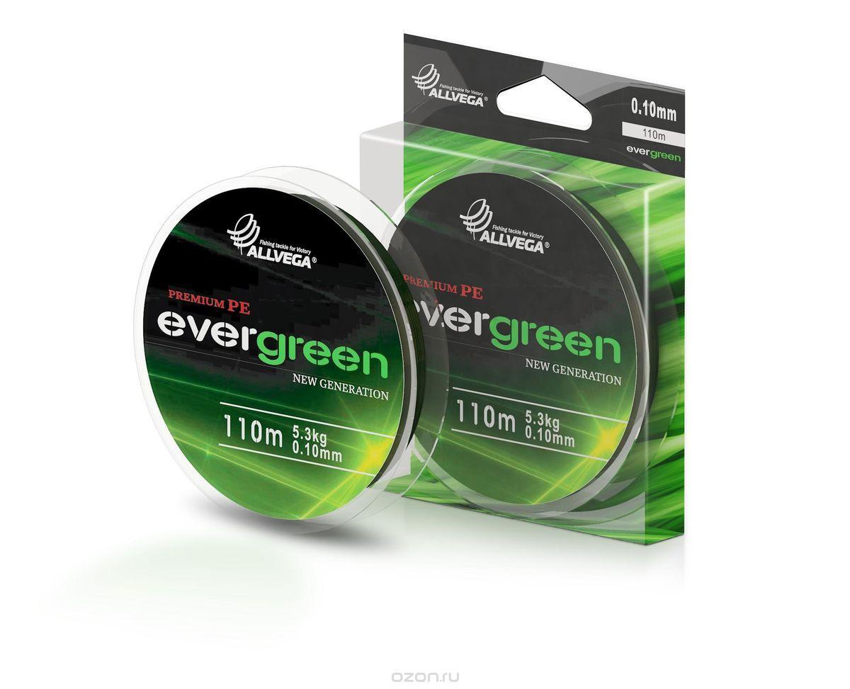 Леска плетеная Allvega Evergreen 110м #0.22 (89112)Плетеные шнуры<br>Отличительной очень полезной чертой плетеного шнура Ever Green от компании Allvega является стойкость окраски данной плетенки. При высокой износостойкости и высокой чувствительность технология изготовления данного шнура позволяет навсегда расстаться с про...<br>