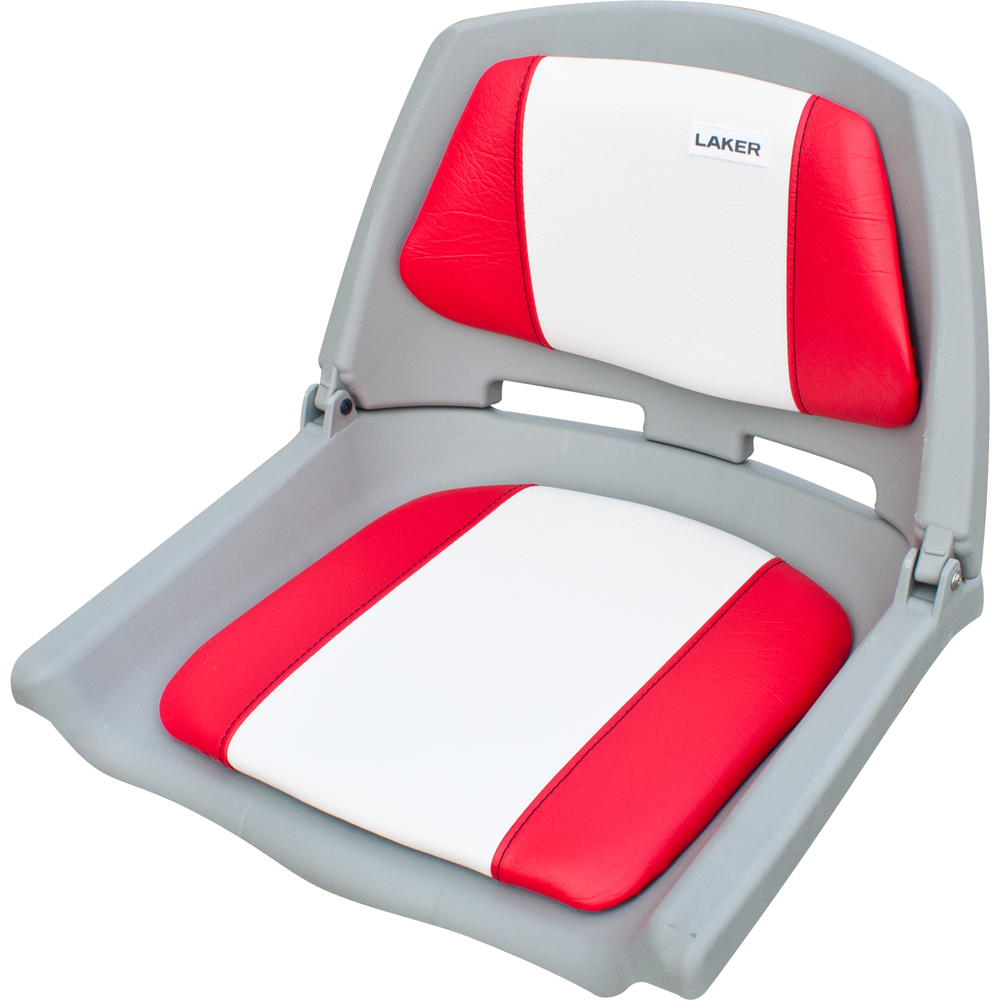 Кресло Fishermans складное мягкое красно-белоеСтулья, кресла складные<br>Кресло складное мягкое красно-белое. Обивка из винила, устойчивого к воздействию влаги и ультрафиолета. Не выгорает на солнце и не впитывает жидкостей. Крепеж на 4 болта.<br>