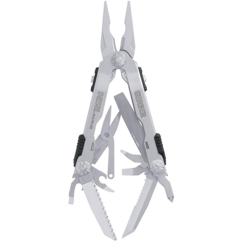 Мультитул Gerber Diesel SS, нейлоновый чехол, 22-41470Мультитулы<br>Мультитул промышленного масштаба, не боящийся сложных задач. Все инструменты изготовлены из нержавеющей стали имеют увеличенный размер. Каждый из инструментов имеет замок для большей надежности и безопасности.<br>