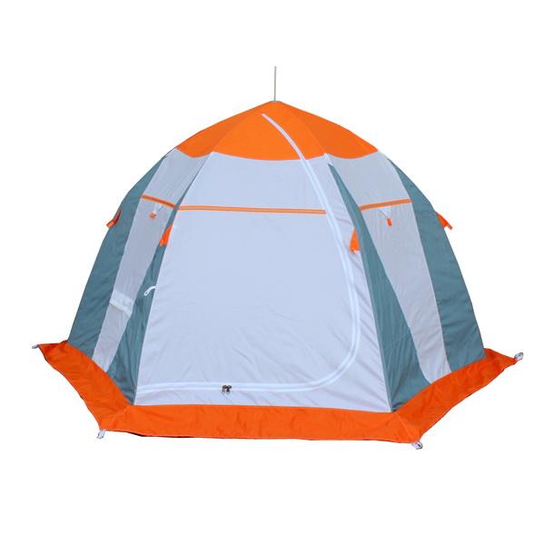 Палатка рыбака Нельма (зимняя) 1Палатки для зимней рыбалки<br>Качественная палатка для зимней рыбалки. Каркас выполнен из дюралевого прутка зонтичного типа.<br>