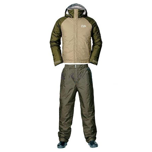 Костюм зимний Daiwa RainMax HI-Loft оливковый XXXL (68029)Костюмы/комбинезоны<br>Универсальный костюм для рыбалки и активного отдыха DW-3503 выполнен из современного материала RAINMAX® от фирмы Daiwa . Данный материал обеспечит комфортное пребывание на природе при сильном ветре, дожде или отрицательной температуре за счёт дышащих свой...<br>