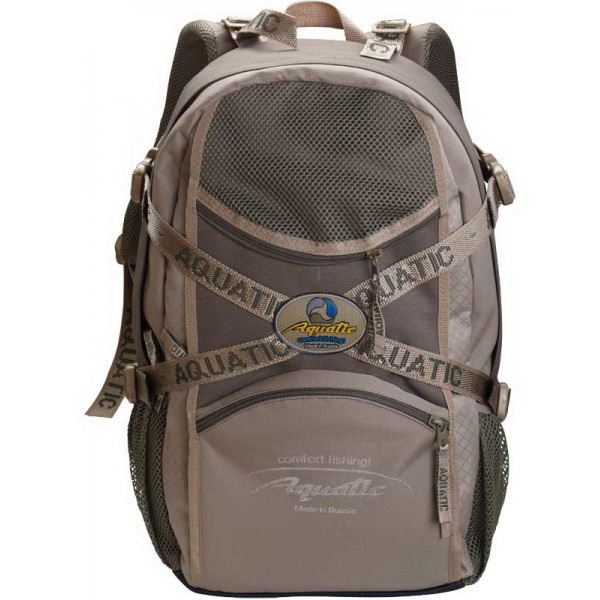 Рюкзак Aquatic Р-30м рыболовный (c мешком для рыбы)Сумки и рюкзаки<br>Удобный рюкзак, разработанный специально для рыболовного туризма. Имеет уплотненную спинку, которая приходится очень кстати при длительных рыболовных переходах.<br>