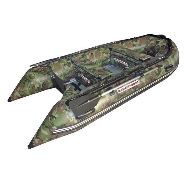 Лодка 2 сорт NISSAMARAN надувная, модель MUSSON 270, цвет зелёный-камуфляж (дерев. пол) P/LРаспродажа<br><br>